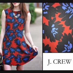 💥 J. Crew Firecracker Floral Fit & Flare Dress XS